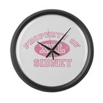 Property of Sidney Large Wall Clock