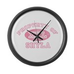 Property of Shyla Large Wall Clock