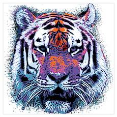 Retro Tiger Poster