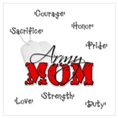 Army Mom Poster
