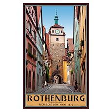 Rothenburg Weisserturm Poster