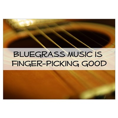 Bluegrass Fingerpicking Poster