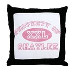Property of Shaylee Throw Pillow