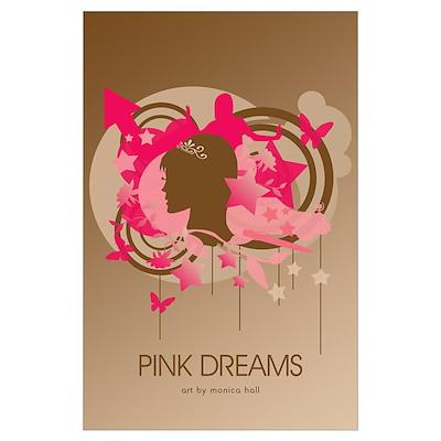 23x35 Pink Dreams Retro Pop Art Poster
