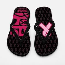 Think Hope (DkPink/Black) Flip Flops
