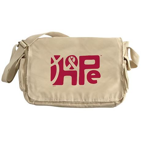Think Hope (DkPink/Black) Messenger Bag
