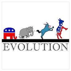 Political Evolution Poster
