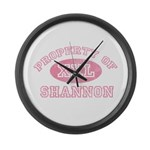 Property of Shannon Large Wall Clock