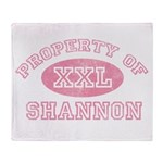 Property of Shannon Throw Blanket