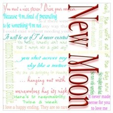 New Moon Movie Quotes Poster