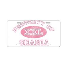 Property of Shania Aluminum License Plate