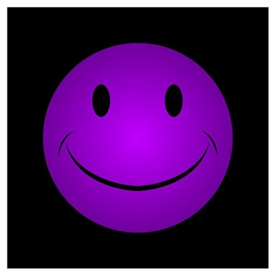 Purple Smiley Poster