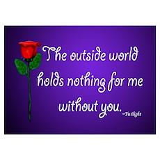 Outside World Twilight Poster
