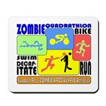 Zombie Quadrathlon Mousepad
