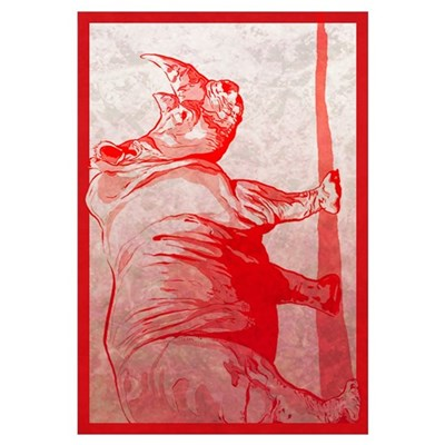 red rhino Framed Print