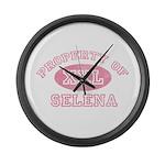 Property of Selena Large Wall Clock