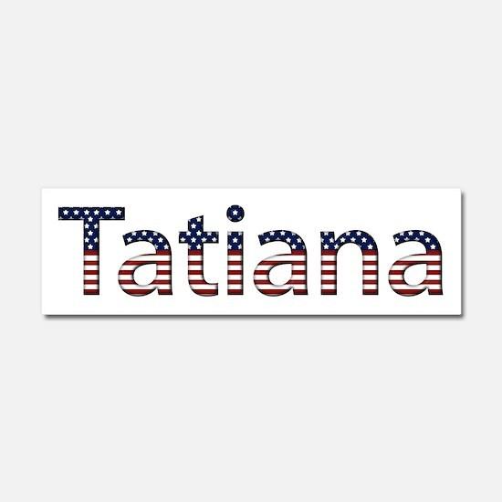 Tatiana Stars and Stripes 10x3 Car Magnet
