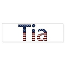 Tia Stars and Stripes Bumper Bumper Sticker