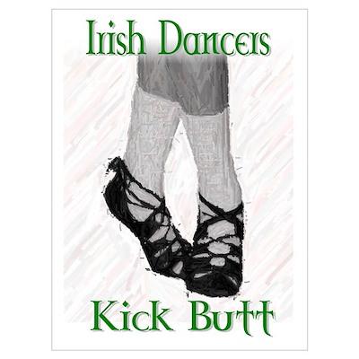 Irish Dancers Kick Butt Poster