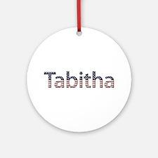 Tabitha Stars and Stripes Round Ornament