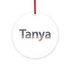 Tanya Stars and Stripes Round Ornament