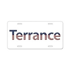 Terrance Stars and Stripes Aluminum License Plate