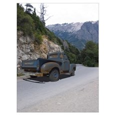 1950 Chevy Pick up - Rat rod Poster