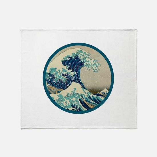Kanagawa great wave Throw Blanket