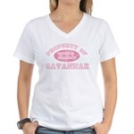 Property of Savannah Women's V-Neck T-Shirt
