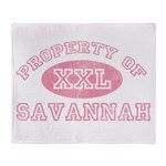 Property of Savannah Throw Blanket