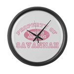 Property of Savannah Large Wall Clock