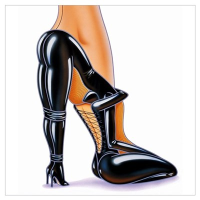 Fetish High Heeled Shoe Canvas Art