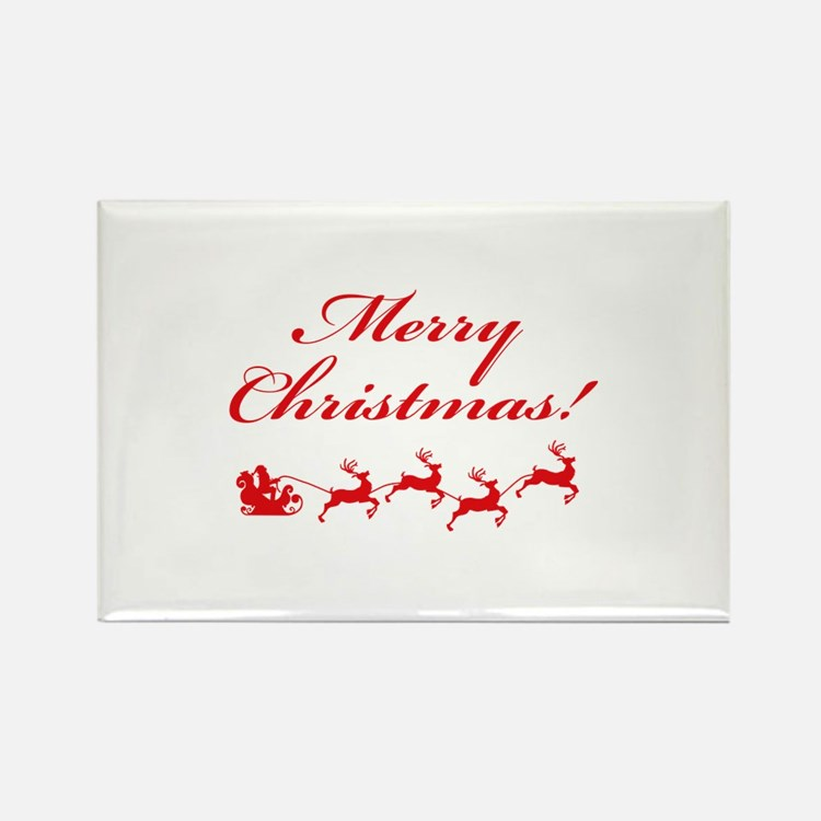 Merry Christmas ! Rectangle Magnet