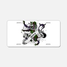 Baird Tartan Lion Aluminum License Plate