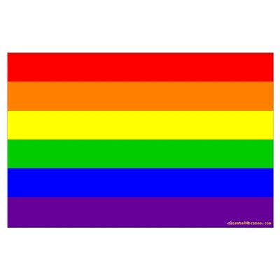 Classic Rainbow Flag Poster