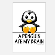 A Penguin Ate My Brain Postcards (Package of 8)