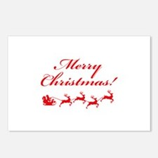 Merry Christmas ! Postcards (Package of 8)