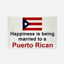 Happily Married To Puerto Rican Rectangle Magnet