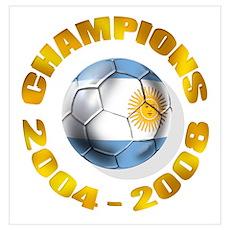Argentina Futbol Champions Poster