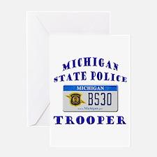 Michigan State Police Greeting Card