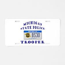 Michigan State Police Aluminum License Plate