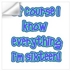Knows everything Wall Decal