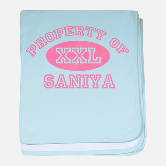 Property of Saniya baby blanket