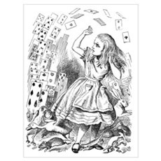 Alice and Cards Framed Print