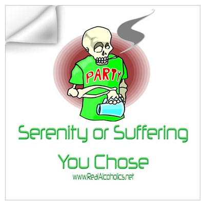 Serenity or suffering Wall Decal