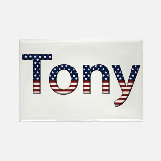 Tony Stars and Stripes Rectangle Magnet
