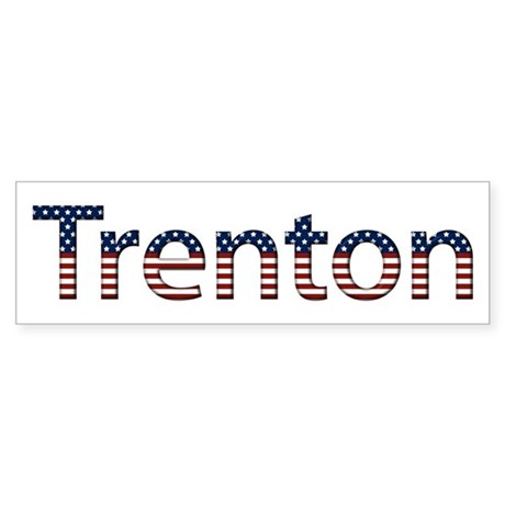 Trenton Stars and Stripes Bumper Sticker