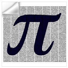 Pi to 3500 decimal places Wall Decal