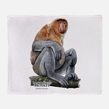 Proboscis Monkey Throw Blanket