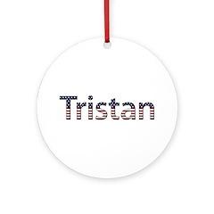 Tristan Stars and Stripes Round Ornament